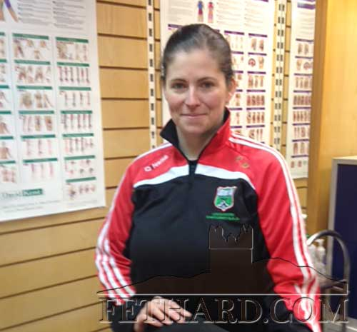 Cathy Doran, who was Physio for the successful Loughmore Castleiney GAA Club