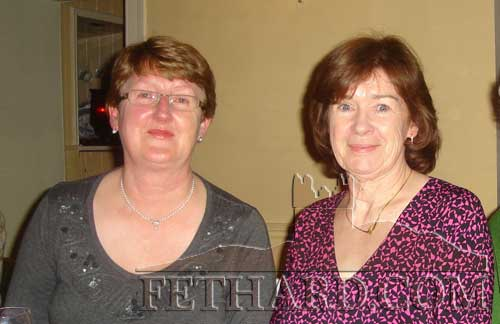 Photographed at the Abbey Choir Christmas Party held on Friday, December 16 are L to R: Gemma Burke and Mary Smyth
