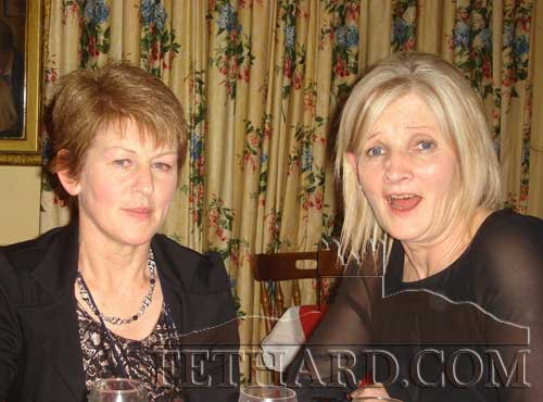 Photographed at the Abbey Choir Christmas Party held on Friday, December 16 are L to R: Mary Healy and Geraldine McCarthy