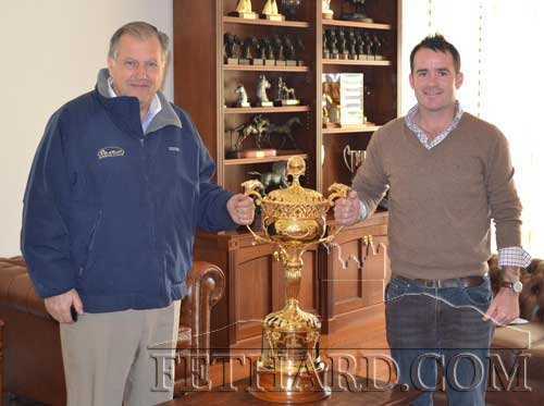 Dave Morrissey, originally from St. Patrick's Place, sent us this photograph. Dave has been working over in Australia for last 12 years and is photographed here with John Messara (left), who owns Arrowfield Stud, after they won world richest race, Dubai World Cup, last March with a horse called Animal Kingdom.