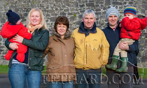 Gleeson and Carroll family members at the New Year's Meet in Fethard.