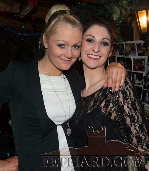 L to R: Christine Needham and Jessica Bradshaw photographed at Audrey Tynan's 21st Birthday Party at The Castle Inn