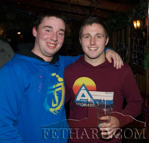 L to R: Andrew Maher and Garreth Lawrence photographed at Audrey Tynan's 21st Birthday Party at The Castle Inn