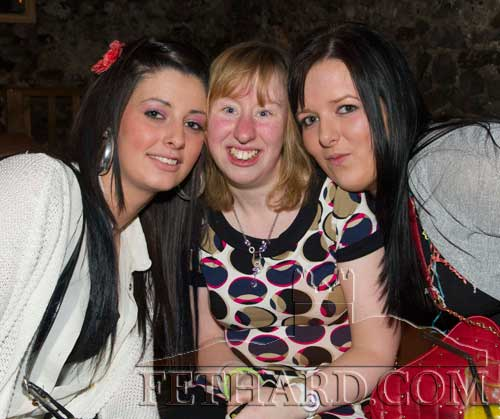 Photographed at Audrey Tynan's 21st Birthday Party at The Castle Inn are L to R: Kelly Fox, Jenny Burke and Jenny Conway.
