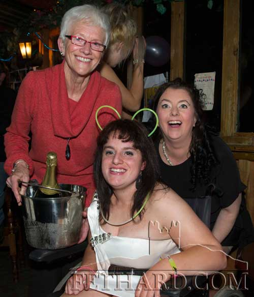 Audrey Tynan (front) photographed with her mother, Mary, and grand-aunt, Eileen Connolly, on the occasion of her 21st Birthday Party celebrated at The Castle Inn.