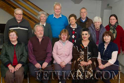 Committee of Fethard Historical Society photographed before the AGM. Back L to R: Gerry Long, Marie O'Donnell, Tim Robinson, Diana Stokes, John Cooney, Kitty Delany, Jane Grubb. Front L to R: Ann Gleeson, Terry Cunningham (PRO), Catherine O'Flynn (Treasurer). Pat Looby (Chairperson) and Mary Hanrahan (Secretary).