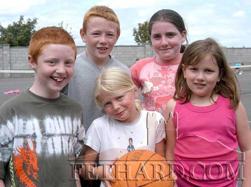 Photographed at Fethard Summer Camp in July 2004 were L to R: Luke Keating, Damien Morrissey, Charla Hatton, Louise O'Donnell and Aisling Harrington.