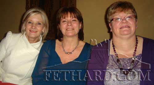 Photographed at the Abbey Choir Christmas Party held on Friday, December 16 are L to R: Geraldine McCarthy, Anita Maguire and Jocie Fitzgerald