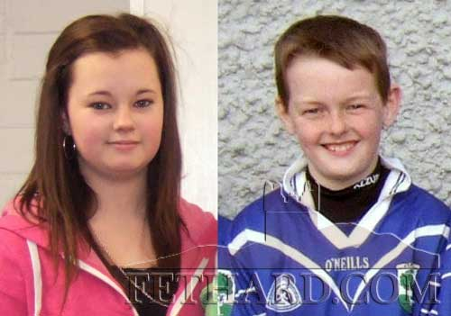 Cassie Needham and Keenan Aherne who will both take part in the Community Games National Finals