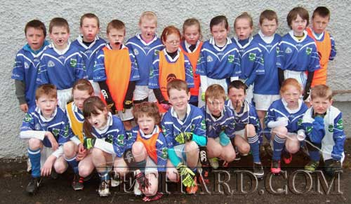 Fethard and Killusty Community Games U10 mixed football team. Back Row L to R: Shane Lawrence, Seán Moroney, Conor Neville, Michael Flanagan, Lily O'Mahoney, Hannah Sheehy, Abbie Tillyer, Áine Ryan, Heather Spillane, Darragh O'Meara, Michael James Phelan, Luke Allen. Front Row L to R: Darragh Spillane, Ciara Spillane, Aoife Morrissey, Luke Dolan, Keenan Aherne, Toby Collier, Cáin Hall, Kelly Ryan and Jack Quinlan.