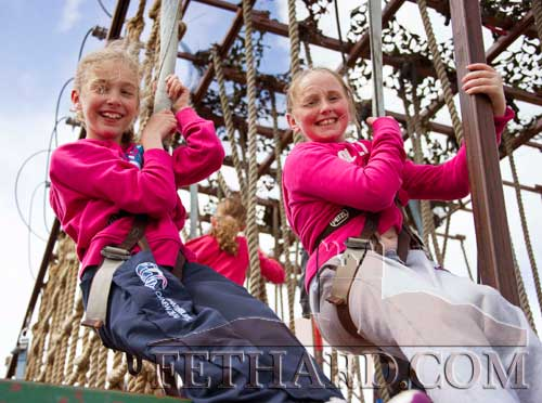 Children enjoying 'Rope Climbing' at the recent Coolmore Family Day.