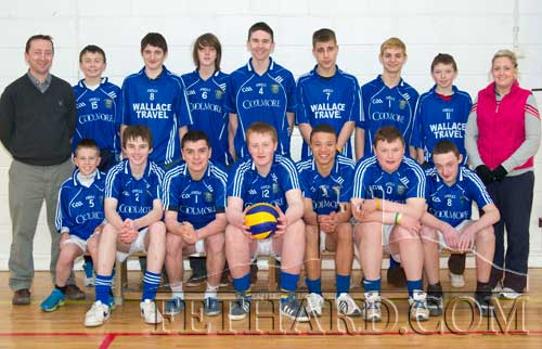 All-Ireland finalists Patrician Presentation Secondary School boys volleyball team who were recently beaten by St. Bridget's, Loughrea, in the Under-16 Cadets 'A' All-Ireland final. Back L to R: Justin McGree (coach), Keith Cronin, Kieran Whyte, Tiernan O'Neill, Niall Doocey, Dominic Dwyer, Anthony Clair, Michael Earl, Susan O'Brien (coach). Front L to R: Danny O'Reagan, Cormac Horan, Adam Fitzgerald, Eoghan Hurley, Thomas Channon, Christy Dunn and Nathan Costin.