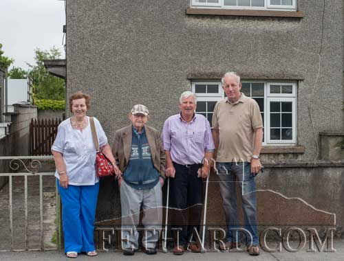 Visiting the old Flynn home on The Green are L to R: Phyllis Deasy, Dinny Flynn, Jim Allen (neighbour) and Pat Deasy.
