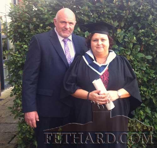 Michelle and Declan Walsh, Coolbawn, Fethard, photographed at Michelle's graduation after being awarded a Bachelor of Arts with distinction in Counselling Skills and Psychotherapy Studies from the irish College of Humanities and Applied Sciences