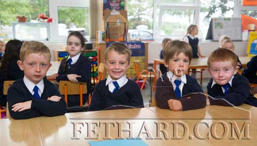 Starting School at Holy Trinity National School in Fethard were L to R: Kelvin Kelly, Micheál O'Rahilly, Thomas Murphy and Cody Bradshaw.