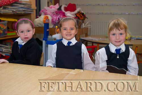 Starting School at Holy Trinity National School in Fethard were L to R: Jenny Roberts, Róisín Tyrrell and Claire O'Donnell.