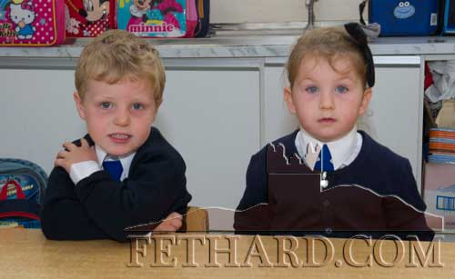 Starting School at Holy Trinity National School in Fethard were L to R: James Walsh and Sarah Cuddihy.