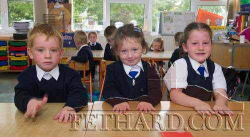 Starting School at Holy Trinity National School in Fethard were L to R: Kasey Power, Kayleigh Rochford Burke and Róisín Purcell.