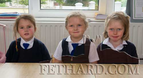 Starting School at Holy Trinity National School in Fethard were L to R: Meadbh Collum, Ella Deegan and Suzie Ann Murphy.