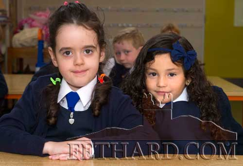 Starting School at Holy Trinity National School in Fethard were L to R: Megan Lyons and Giovanna Aguiar