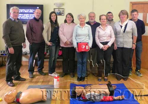 Participants from Slievenamon Golf Course who took part in the recent 'First Responders' lifesaving training skills programme at Fethard's Tirry Centre. L to R: Liam Hayes (instructor), Brian McNally, Louise Lalor, Heather Bailey, Marie Quirke, Brendan Kenny, Nora Ryan, Gabor Kiss, Ethna Cleary and Jimmy O'Sullivan (instructor).