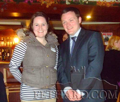 Pictured L to R: are Aisling Lewis, nominee for National Macra President, and Michael Moclair, Fethard, nominee for Macra Munster Vice President, at the Glenville Macra Speed Dating night on Friday, February 15.