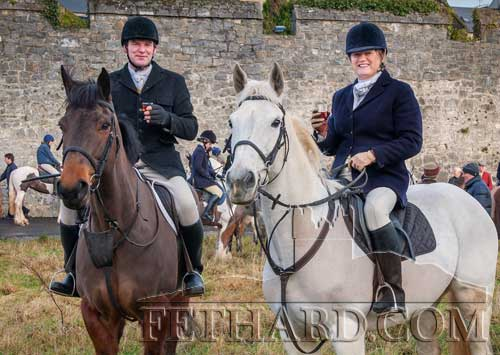 Charles and Eimear Blackmore photographed at the Tipperary Foxhounds New Year's Meet in Fethard
