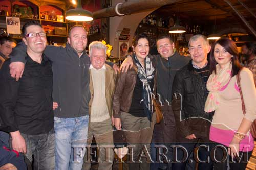 Caroline Croke and Jason Nevin who were recently married in New Zealand are photographed home on holidays with family members and friends. L to R: Niall Nevin, Val O'Dwyer, Declan Nevin, Caroline Croke, Jason Nevin, Eddie Croke and Majella Nevin.