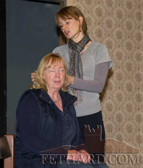 Niamh Hayes and Ann Walsh rehearsing for 'Miss Rose Whyte' which opens in the Abymill on this Wednesday, November 20