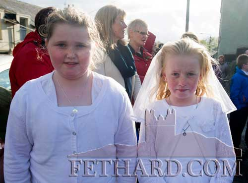Taking part in the May Procession in Fethard were L to R: Sophia O'Brien and Tamara Doyle