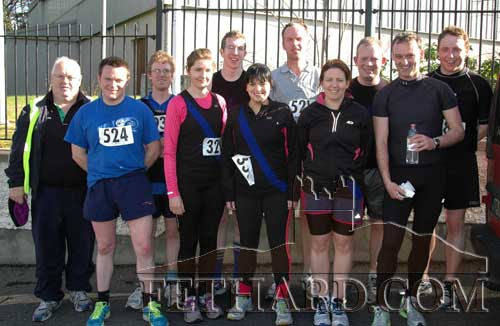 Fethard Athletes taking part in the Novice Road Race L to R: Micéal McCormack, Michael Moclair, Pat Murphy, Nicola Nealon, David Burke, Mary Ryan, Pat Phelan, Aine Doocey, Paraic McCormack, Tony Shelly and Brian Slattery.