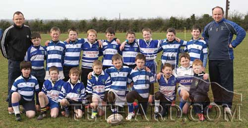 Fethard U-10 team who took part in the recent pan-Munster Blitz on Saturday, March 2, in Fethard, photographed with coaches John Smullan and Anthony Wall.