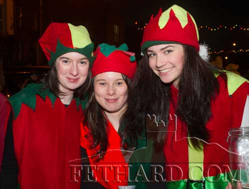 Santa's helpers enjoying the fun at Fethard's 'Festive Friday' last year. L to R: Michelle Walsh, Danielle Sheehan and Tara Horan
