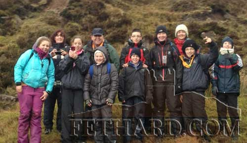 Fethard Scouts and leaders photographed on the Galtee Mountains last Saturday.