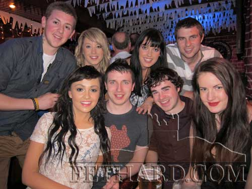 Photographed in Lonergan's on St. Stephen's Day are Back L to R: Ethan Cronin, Shannon Hickey, Linda Kenny, Adrian Minogue. Front L to R: Megan Gormley, Arron Conran, Daniel Hickey and Helen Sunderman.