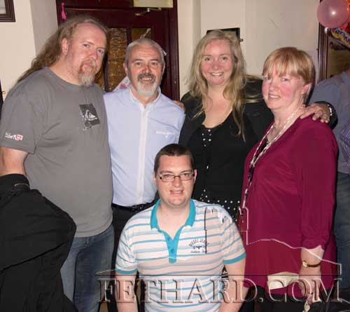 Photographed recently in Fethard are standing L to R: John Looby (home from England), Connie Sullivan, Becky Eaton, Claire Sullivan and in front Mark Sullivan.