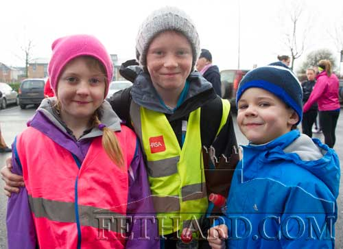 Taking part in the Operation Transformation 5K Walk in Clonmel were brothers and sister L to R: Éabha Ryan, Cathal Ryan and Oisín Ryan from Fethard