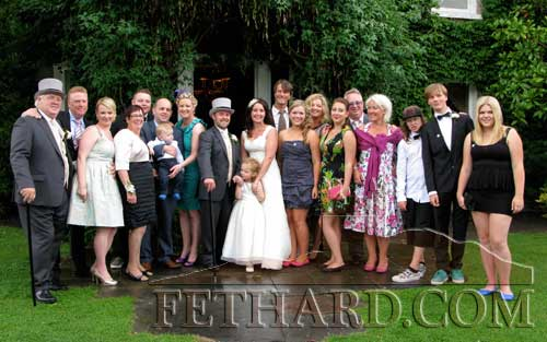 Members of the McCormack family photographed at their daughter Helena's wedding eception at Raheen House Clonmel. L to R: Micheál McCormack, Cambell Fraser, Belinda McCormack, Mary McCormack, Killian McCormack, Michael Sean McCormack, Baby Michael Sean McCormack, Elain McCormack Matthias Euchner, Saoirse McCormack, Helena McCormack, Verner Herkommer, Cliona Herkommer Lorraine McCormack Herkommer, Coilin McCormack Fergus McCormack, Rikke Iversen, Jack McCormack, Sean Herkommer and Sophia Vagtborg.