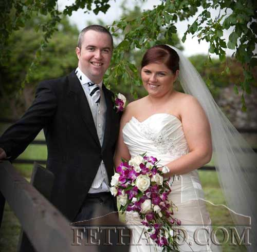 Shane Sullivan (Fethard) & Mary Brunnock (Kilcash) who recently got married in St John the Baptist Church, Kilcash