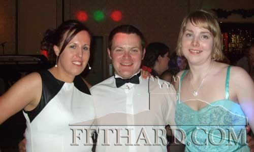 At the Macra New Year's Ball were L to R: Emma Flynn, Michael Moclair (Candidate for Macra Munster Vice Presidency) and Ber Kirby