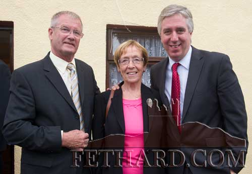 L to R: Janet and John Moulson photographed with John Delaney, CEO FAI