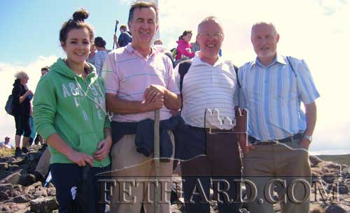 Photographed at Holy Year Cross on Slievenamon are L to R: Sinead Kenrick, Paddy Kenrick, Michael Kenrick and Joe Lee