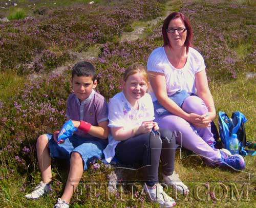 Photographed at Holy Year Cross on Slievenamon are L to R: Danny Shelly, Taryn Purcell and Louise Purcell