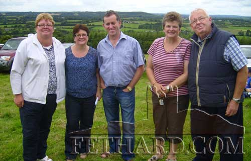 Photographd at Holy Year Cross on Slievenamon are L to R: Josie Fitzgerald, Majella Hayde, Michael Hayde, Maura Crowley and Gus Fitzgerald.