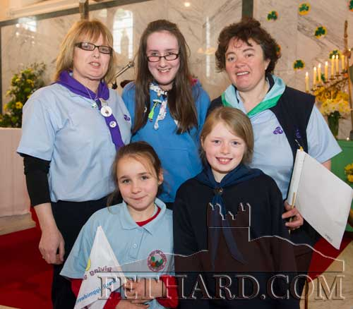 Girl Guides and leaders at St. Patrick's Mass
