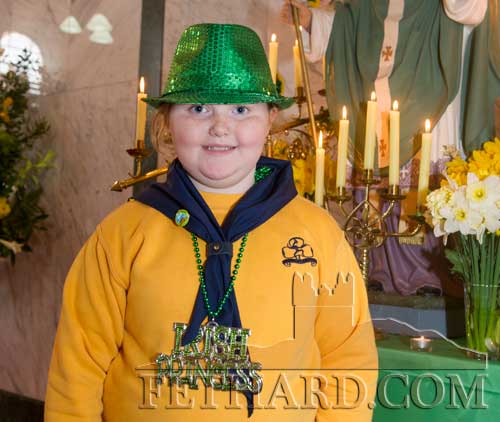 Sophia O'Brien at St. Patrick's Day Mass