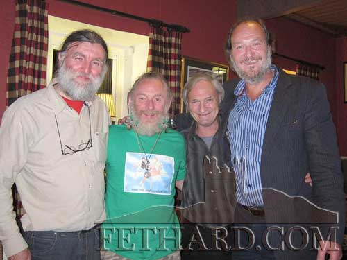 We are sad to record the death of Stevie O'Connor who died today, Wednesday, 20th March. Funeral arrangements later. The late Stevie is photographed with friends at McCarthy's Hotel. L to R: Joe Kenny, Steve O'Connor, Frankie Napier and John Shortall.