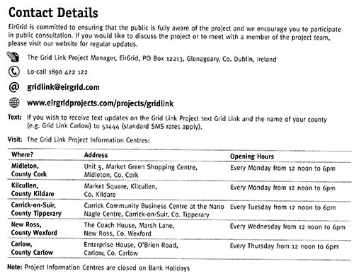 Contact Details for Eirgrid