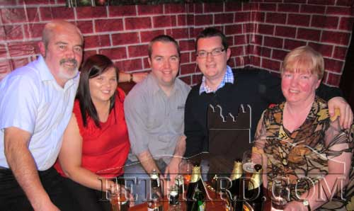 Photographed in Lonergan's on St. Stephen's Day are L to R: Connie Sullivan, Mary Brunnock, Shane Sullivan, Mark Sullivan and Claire Sullivan
