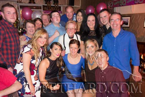 Congratulations to Helena Fanning (front centre), Fethard, who celebrated her 50th BIrthday with family and friends at Lonergan's last weekend